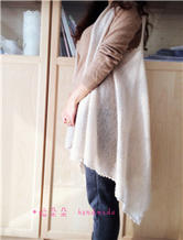 絮羽 真丝马海+羊绒机织的一片式小披
