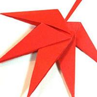 枫叶树叶手工折纸DIY教程