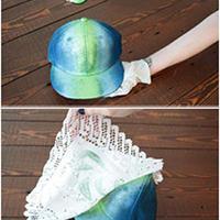 手工DIY 给帽子装饰好看的花纹
