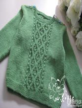 周岁宝宝肩开扣棒针羊毛衫