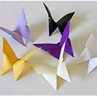 纸蝴蝶手工折纸DIY教程