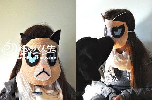 猫咪脸谱面具手工制作