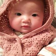 婴幼儿可爱钩针连帽开衫式背心