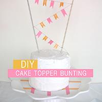 简单生日蛋糕装饰彩旗手工制作教程