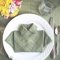 布餐巾纸折叠迷你衣服盘花