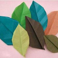 树叶折纸手工DIY教程