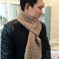 麦穗 钩针编织羊绒男款围巾