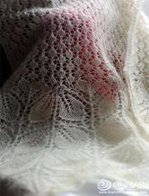 细马海棒针蕾丝长围巾