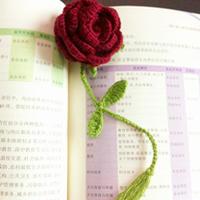 钩针玫瑰花书签 让阅读更浪漫