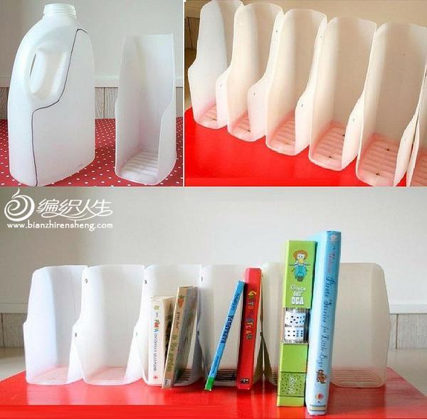 塑料瓶diy书架手工.-编织人生移动门户