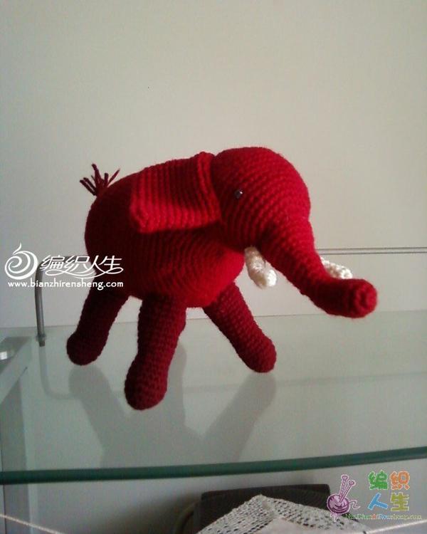 吉祥红象 钩针动物玩...-编织人生移动门户