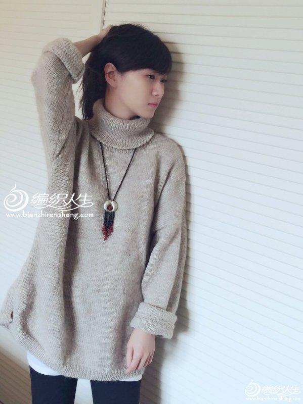 高领宽松毛衣