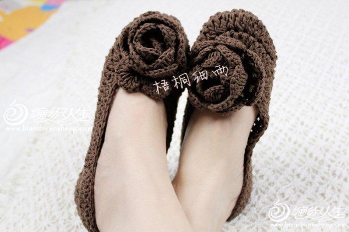 立体玫瑰地板鞋