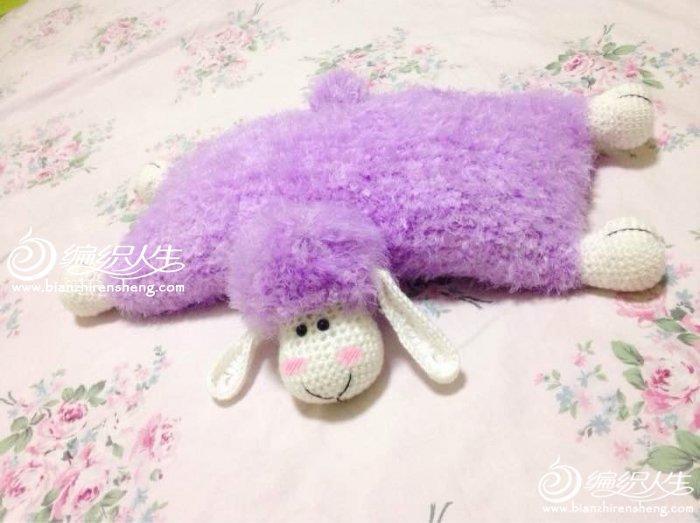 钩针编织小羊抱枕