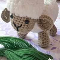 玛丽的小绵羊 钩针编织小羊玩偶图文教程