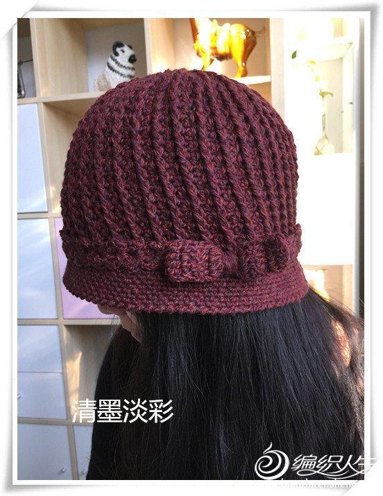 钩针编织冬季老年人帽子教程(青烟渺渺手工)|钩针编织
