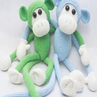 钩针长臂猴玩偶视频教程