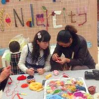 南京虹悦城织物展上的针织艺术与编织课堂