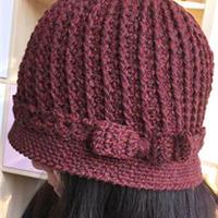 送妈妈的冬日温暖 钩针编织老年人有檐帽