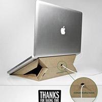 披萨盒子收改造笔记本支架