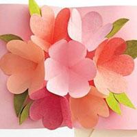 贺卡中立体花朵手工教程