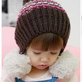 小女孩球球帽棒针编织帽子视频教程
