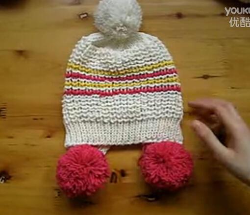 女孩球球帽亲子帽视频教程