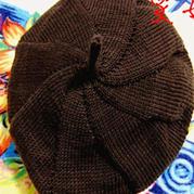 送给老父亲的从上往下织棒针男士八角帽