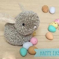 毛线球制作毛茸茸小兔子玩具