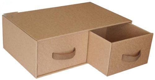 纸箱制作完美抽屉收纳箱
