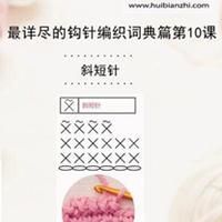斜短针 钩针词典第10课(会北京pk10信誉平台课堂)