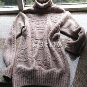 廊桥遗梦 棒针休闲款男士高领毛衣