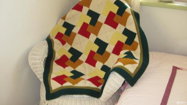 棒针编织毯子