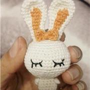 萌物编织之钩针编织饭团兔