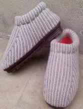 超详细的棒针毛线棉鞋织法