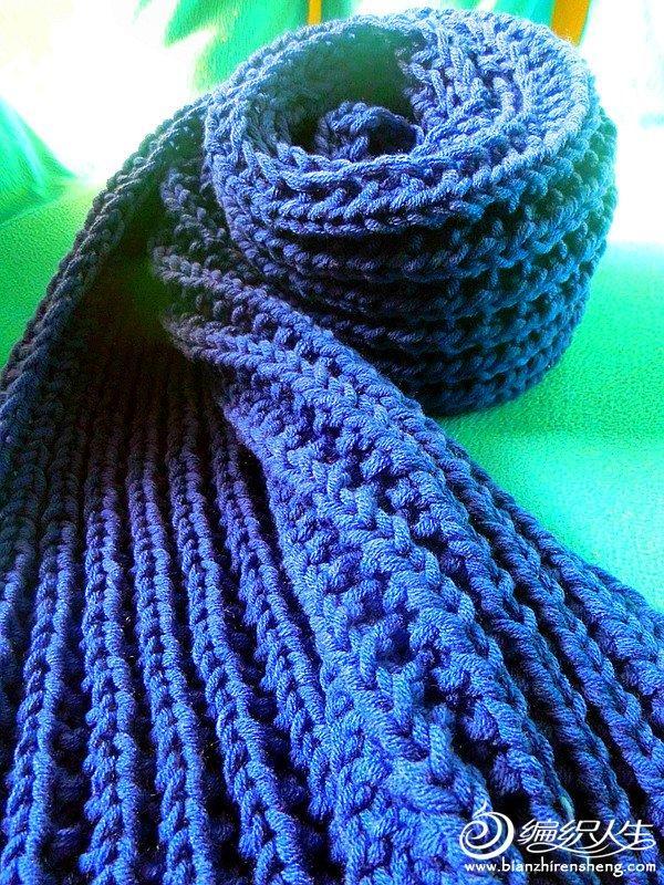 棒针拉链针围巾