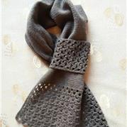 巧克力豆子 钩织结合插口式围巾围脖