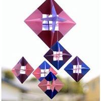 创意折纸立体菱形手工教程