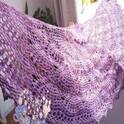 云蕾紫色钩针凤梨花唯美披肩