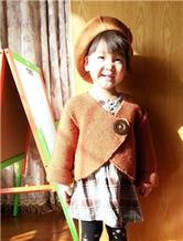 不规则门襟设计 欧式儿童外套毛衣