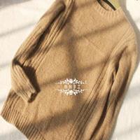 燎原 男士纯色简洁圆领套头毛衣
