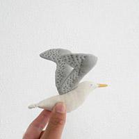海鸥布偶饰物手工教程