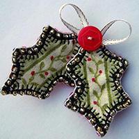 不织布纽扣圣诞装饰手工