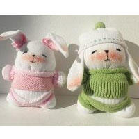 袜子制作小兔子手工教程