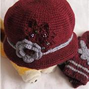 让爱驱寒 送给妈妈的钩针有檐花朵帽