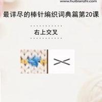 右上交叉 棒针词典第20课(会编织课堂)