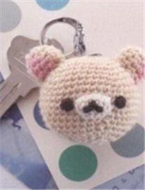 针织小物之钩针萌熊熊挂件