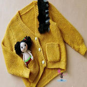 雏菊 儿童棒针编织小开衫