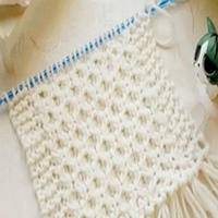 棒针编织蜂窝针围巾视频教程