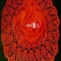 烙印 纱与马海钩针编制围巾过程